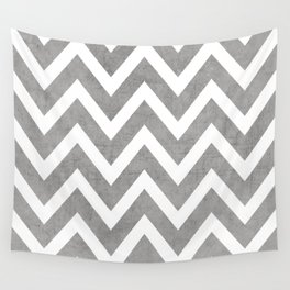 gray chevron Wall Tapestry
