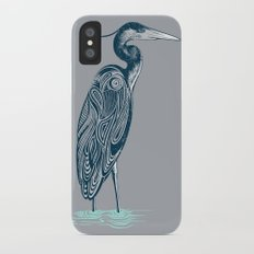 Bewitching blue heron Slim Case iPhone X