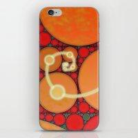 fibonacci iPhone & iPod Skins featuring Fibonacci Spiral Fractal by Conceptualized