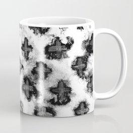 Black and White Watercolor Crosses Coffee Mug