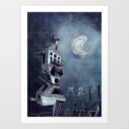 At the Moonlight Art Print