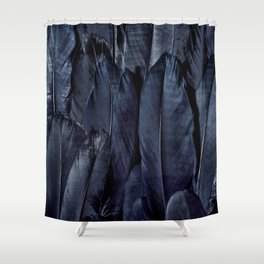 Mystic Black Feather Close Up Shower Curtain