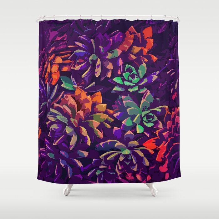 Cali Succulents 3 Shower Curtain