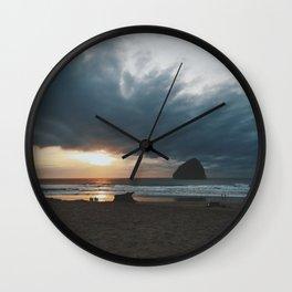 Cape Kiwanda Sunset Wall Clock