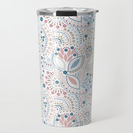 Colorful pattern of pastel light colors with beads Travel Mug