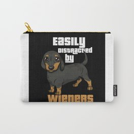Dachshund Dog Distracted By Viennese Gift Motif Carry-All Pouch