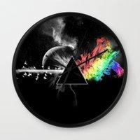 floyd Wall Clocks featuring Pink Floyd by Akamsa
