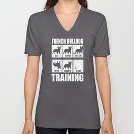 French Bulldog Frenchie Bully Training Unisex V-Neck