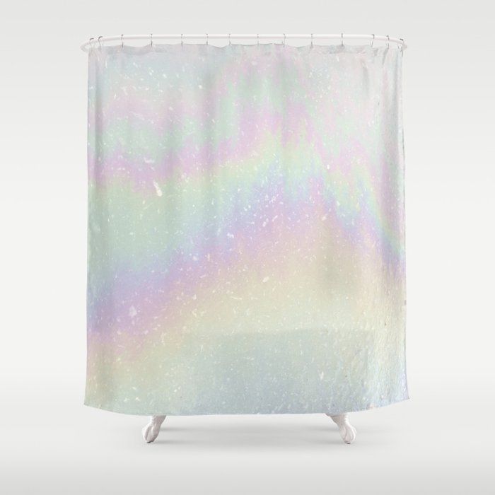 Holographic Shower Curtain By Alisagal