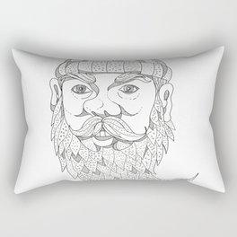 Paul Bunyan Lumberjack Doodle Art Rectangular Pillow