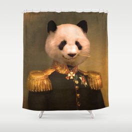 Panda Bear General | Cute Kawaii Shower Curtain