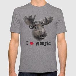 I love Moosic! // moose T-shirt