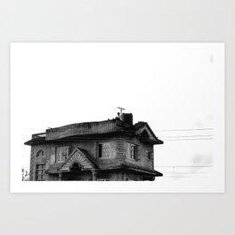 Concrete Home in Nepal Art Print