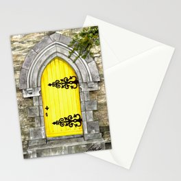 yellow door Stationery Cards