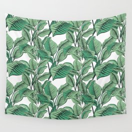 Exotic Tropical Banana Palm Leaf Print Wall Tapestry