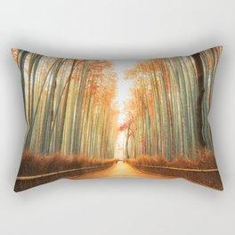 Arashiyama Bamboo Forest in Kyoto, Japan Rectangular Pillow