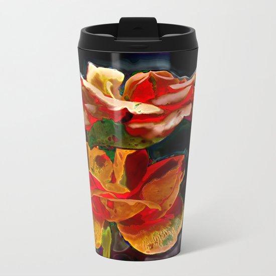 Romantic Flowers Metal Travel Mug