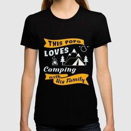 Camping T-Shirt Popo Loves Camping Apparel Gift T-shirt