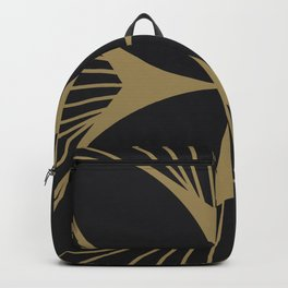 Diamond Series Floral Cross Gold on Charcoal Backpack