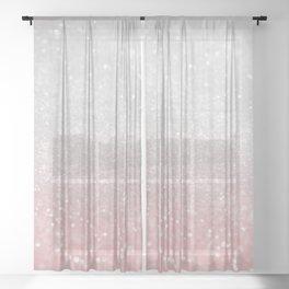 Blush Gray Princess Glitter #1 (Faux Glitter - Photography) #shiny #decor #art #society6 Sheer Curtain