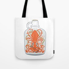 The Kraken in a Bottle Tote Bag