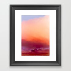 Winter-sun, in Iceland, Seltjarnarnes. Framed Art Print