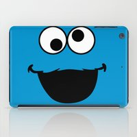 cookie monster iPad Cases featuring Cookie Monster by Adel