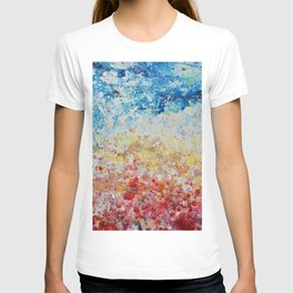 sunset abstract painting T-shirt