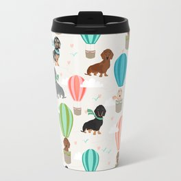 Dachshund hot air balloon dog cute design fabric doxie pillow decor phone case Travel Mug
