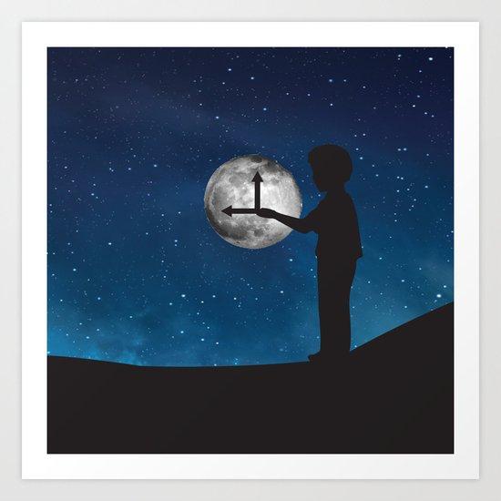Nine o'Clock Moon Art Print