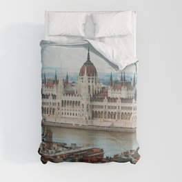 View over Budapest Comforters