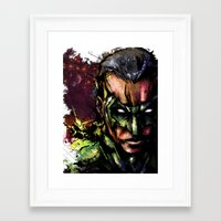 green lantern Framed Art Prints featuring Green Lantern by Vincent Vernacatola
