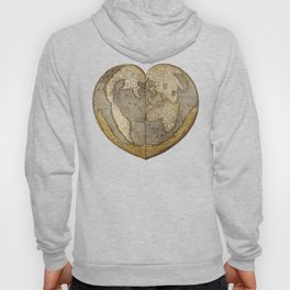 Heart-shaped projection map Hoody