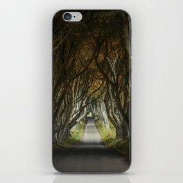 Dark Hedges alley in northern Ireland iPhone Skin