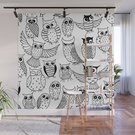 Funny owls Wall Mural