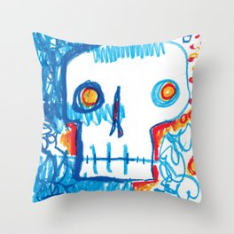 Skull of the Insomniac Throw Pillow