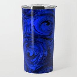 China Blue Rose Abstract Travel Mug