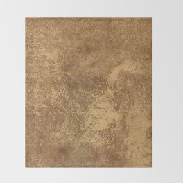 Abstract gold paper Throw Blanket