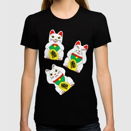 Funny Wise Lucky Rich Cats T-shirt