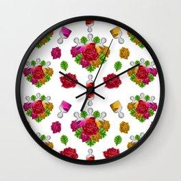 Beauty Flower Serum Wall Clock