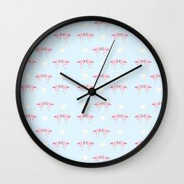 "Collection ""Love Birds"" impression ""Loving Flamingo"" Wall Clock"