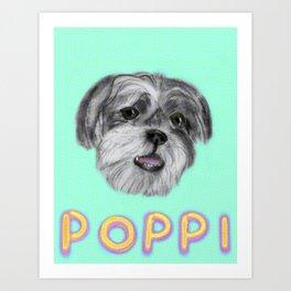 Poppi Puppy 3hree Art Print