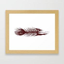 The Fishy Eskeleto Framed Art Print