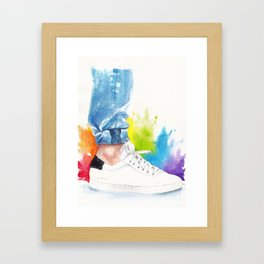 You can tell a man by his ankle: The Power Activated (Louis Tomlinson) Framed Art Print