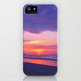 Broken sunset by #Bizzartino iPhone Case