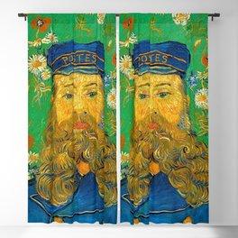 PORTRAIT OF JOSEPH ROULIN - VINCENT VAN GOGH Blackout Curtain