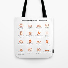 Automotive Warning Light Guide Tote Bag