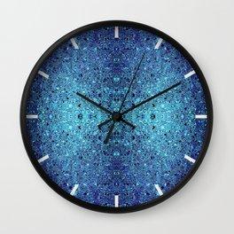 Deep blue glass mosaic Wall Clock