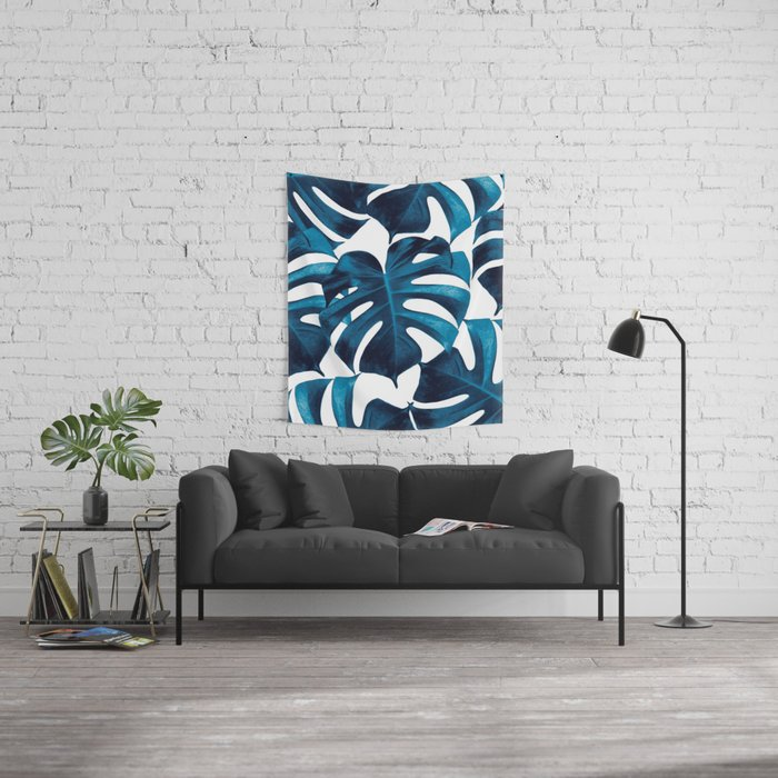 Tropical Monstera Leaves Dream #8 #tropical #decor #art #society6 Wall Tapestry