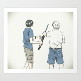 Pass The Gun Art Print